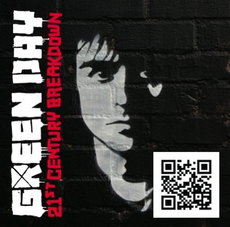 Album CD Green Day avec un code qr