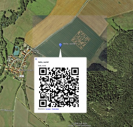 QRCode Hello World Google Earth