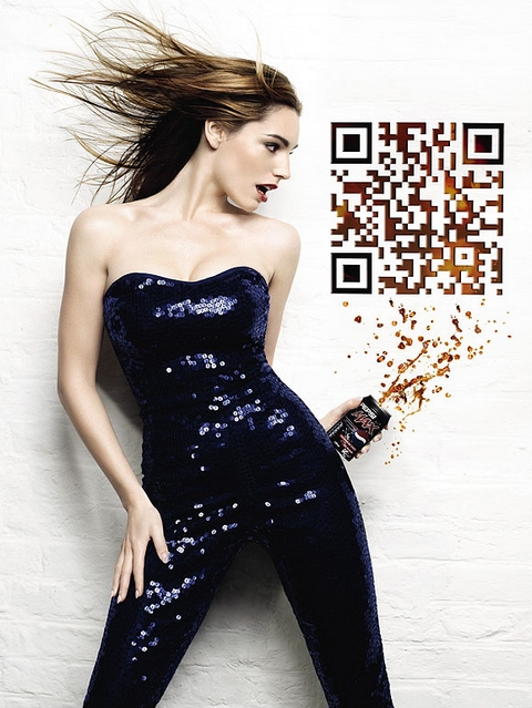 Code QR Kelly Brook Pepsi Max QRCode